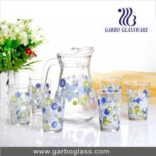 Promotion 7PCS Glass Jug and Cup Set