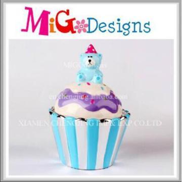 New Design Cupcake Shaped Ceramic Money Piggy Bank