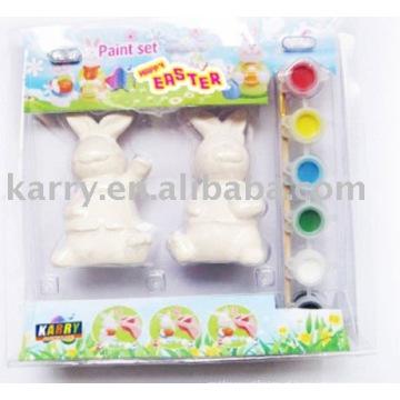 kit de pintura em cerâmica para crianças