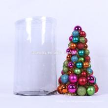 mini árbol plástico del ornamento de la bola de la Navidad