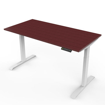 Ergonómico altura eléctrica ajustable Sit Stand Up Desk