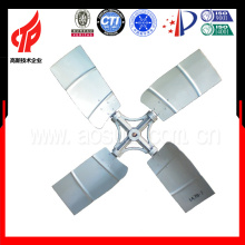 2800mm Diameter Aluminum Material Cooling Tower Fan The Cross Type With 4 Blades