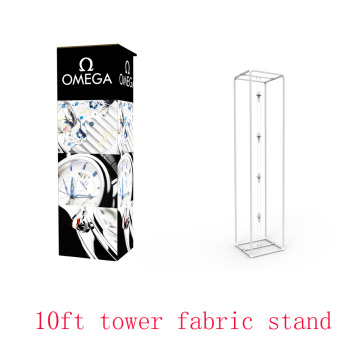 10ft Fabric Tower Exposição LED Frame Stands