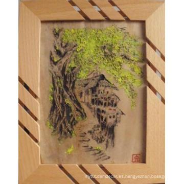 Escultura De Bambú Pintura De Colores