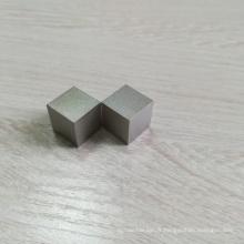 Haute pureté 99.95% poli 38.1mm 1kg 2kg prix du cube de tungstène