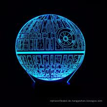 3D LED Nachtlicht Lampen, 3D Optische Täuschung 7 Farben Touch Tisch Schreibtisch Visuelle Lampe Geschenke Spielzeug für Kinder