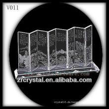 K9 Kristallschirm mit Sandstrahlbild