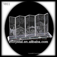 Pantalla de cristal K9 con imagen de chorreado de arena