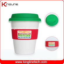 Any Color 350ml Silicone Cup with Sillicone Band and Cover (KL-CP005)