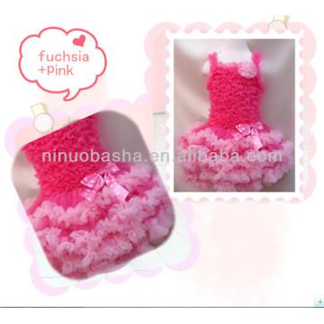 Фуксия и розовый спагетти многоуровневое юбка пачка платье 2014 горячей продажи NB080