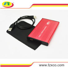 2.5′′ USB2.0 Aluminum External SATA Hard Drive Enclosure