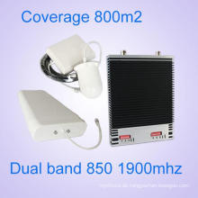 China Lieferant 850MHz und 1900MHz Dual-Band GSM CDMA Signal Booster