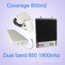 China Supplier 850MHz and 1900MHz Dual Band GSM CDMA Signal Booster