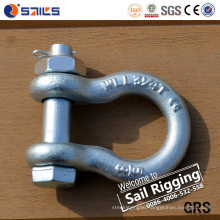 High Strength Galvanized Load Rated Bolt Type Anchor Shackle