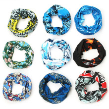 Multifunktionale Polyester nahtlose gestrickte elastische Magic Fahrrad Bandana Caps (YKY1006-14)