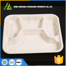 Caja de plástico desechable de 4 compartimentos