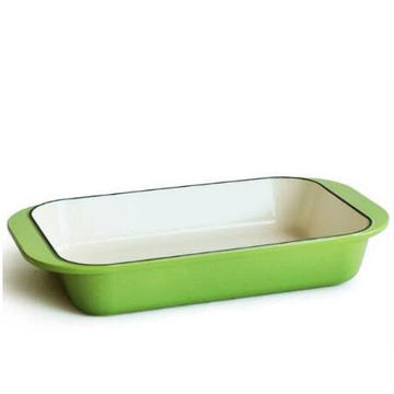 cast iron baking dish pan with double ear