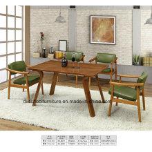 Table et chaise de salon en bois massif Europe du Nord