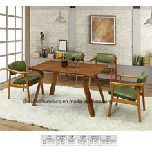 Northern Europe Solid Wood Living Room Table and Chair