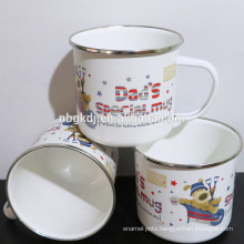 Christmas promotional printed enamel coffee mug gift