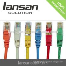 UTP Patch Cord, UTP Cat.5, Cat.5e, Cat6, Cat6a Cable, ETL Vérifié
