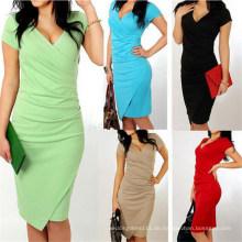 2015 Western Style Elegant Slim Fitting Mode Dame Büro Kleid
