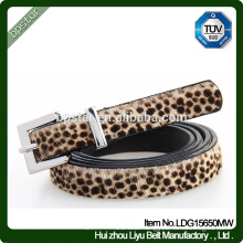 Pu Women Belts Leopard Thin for Female Dress Jeans Fashion Vintage Cinto Straps Casual Wholesale Factory