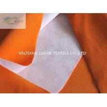 Curto cabelo veludo lig poli do algodão tecido de malha para o coxim