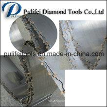 Uso de la hoja de sierra de banda de diamante en una máquina de corte de chapa de mármol semiautomática