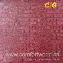 Cuir en PVC pour meubles (SAPV03818)