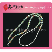 Guangzhou Großhandel handgemachte Zinn Farbe Bling Kristall Perlen Gläser Kette