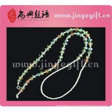 Guangzhou al por mayor hecha a mano de color estaño Bling Crystal Beaded Glasses Chain