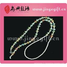 Guangzhou En Gros Étain à La Main Couleur Bling Cristal Perlé Lunettes Chaîne