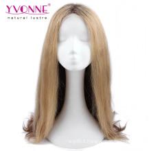 Perruque droite en dentelle naturelle de cheveux indiens