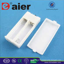 Daier 2 aa battery holder with cover with indicator light white aa battery holder