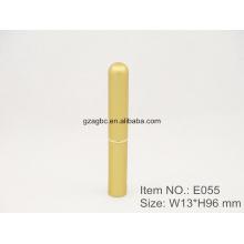 Delgado e elegante batom caneta de alumínio em forma de tubo E055, copo tamanho 8,5 mm, cor personalizada