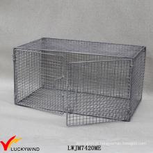 Parede Suspensão Solução de armazenamento Rústico Retro Grey Wire Metal Shelf