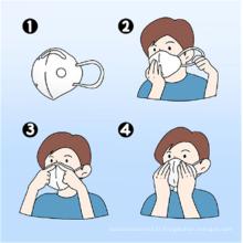 Máscara respiratória com filtro de carbono N95 de alta qualidade