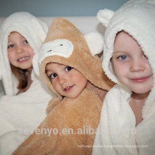 Organic Bamboo hooded baby towel Extra soft and Durable PremiumTowels Quickly Dry Sevenyo animal design