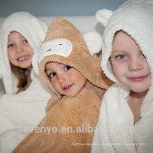 Органические бамбука полотенце с капюшоном детские мягкие и прочные PremiumTowels быстро высушить так просто дизайн животных