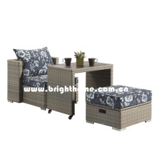PE Rattan Wicker Balcony Lounge Outdoor Furniture Bp-8030