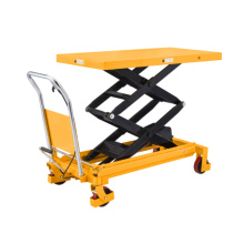 Xilin Good Quality Lift Table Capacity 800KG 1760lbs  manual hydraulic Double Scissors Lift Table