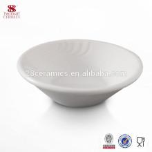 Venda quente de porcelana de ossos louça pequena louça de cerâmica prato de molho