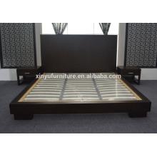 Lit d'hôtel en bois pour meubles de chambre d'hôtel pour hôtel 5 étoiles XYN2652