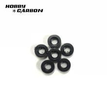 En stock tuercas de presión de perfil de aluminio anodizado negro m3
