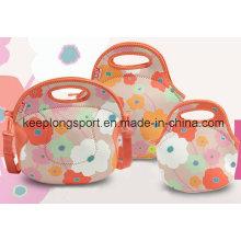 2016 New Design Full Color Printing Custom Neoprene Lunch Bag
