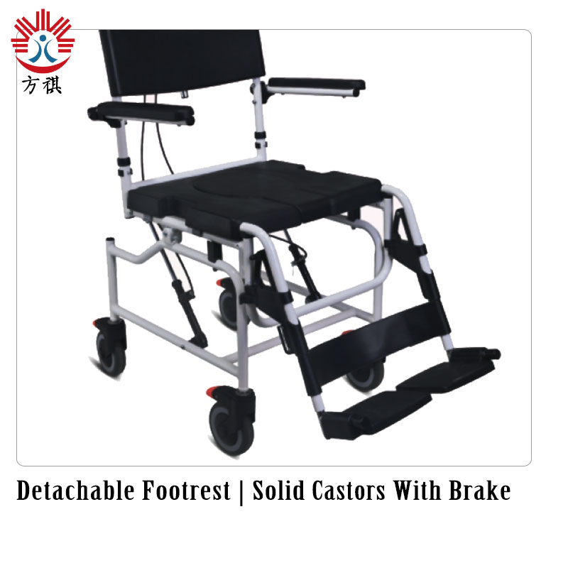 Commode Wheelchair Solid Castor