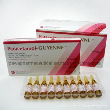 Paracetamol-Guyenne 300mg / 2ml Injectioneach ml contém injeção de paracetamol 150mg