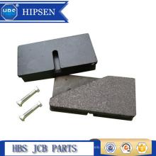 Plaquettes de freins de pelle rétrocaveuse 43mm x 85mm OEM # 15 920160/45 202700 pour pelle JCB