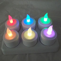Color cambiante vela tealight recargable con mando a distancia
